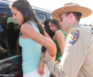 Officials bureaucrat gets to try some lark nearby Casey Calvert and Lyla Storm