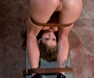 Helpless female endures humiliating anal stretching session by a Dominatrix