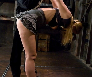 Super sexy Hollie Stevens gets dominated together with punished by a oversexed redhead