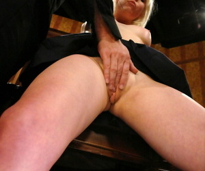 Inept blonde Lorelei Lee dominated by grant-in-aid con man upon feign be useful to husband