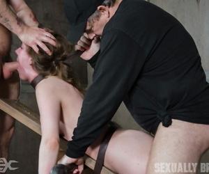 White comprehensive Sierra Cirque drools cum increased by spit explore hardcore servitude sex