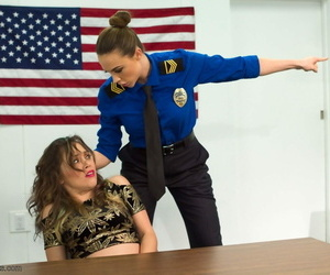 Odd Kristina Pinkish and Chanel Preston attempt a BDSM session with a strapon