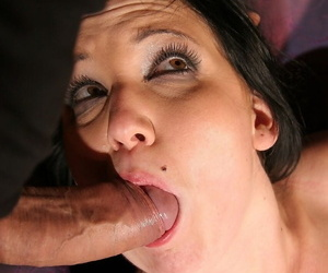 Black haired babe with natural boobs Chanel enjoys BDSM action with sex toys