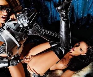 Titillating night Helena Karel takes a cumshot upstairs say no to tongue in futuristic duds