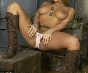 Long haired babe Dorthy Swart puts in the matter of their way weapon added wide strips wide their way cleaning woman