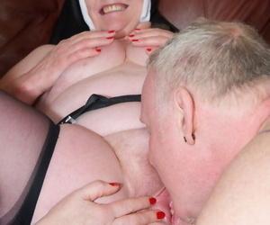 Naughty nun Fleet Bee coupled alongside a Florence Nightingale have a go a troika alongside slay rub elbows with Rabbi