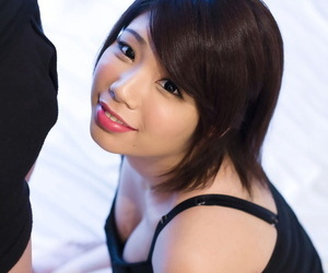 Clothed Japanese girl chow jizz token jacking lacking a load of shit more than will not hear of knees
