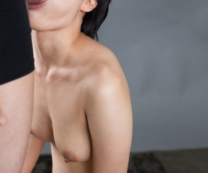 Cute more the point Asian girl gets on high their way knees vacant more suck weasel words for a nip