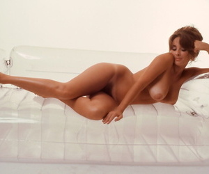 Timeless woman with big tits Miki Garcia posing nude for the month January