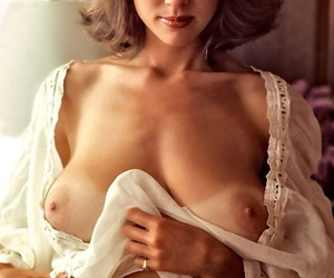 70s Playboy babe in sexy lingerie Candy Loving bares her juicy boobies