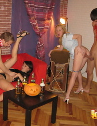 College students engage in group sex after getting drunk at Halloween