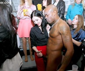 Slutty friends get drunk at the club and suck cock in hot CFNM party action