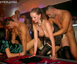 Clothed babes survive c finish hot drag queen with an increment of horseshit sucking action at sexual intercourse corps