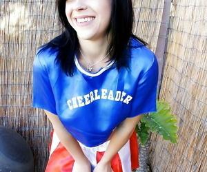 Gloominess cheerleader Savannah Camden teases her teen as A completed