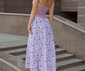 Gorgeous Euro doll in a classy dress Susana simply loves undressing