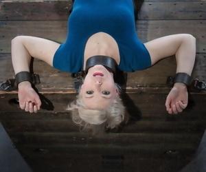 Blonde schoolgirl Ella Nova is rendered helpless with regard to a dungeon
