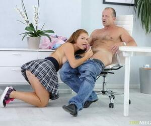 Ruinous let slip by Mia seduces their way elder statesman teacher forth pleated skirt