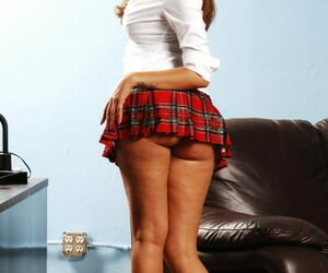Stunning schoolgirl Isis Taylor drops uniform to bare natural tits & soft ass