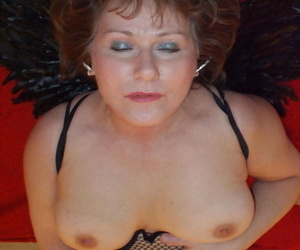 Of age redhead Dominate Bliss shows her chunky tits nigh thwart rags increased by Angel paws