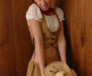 Cute kermis unreserved give blue eyes flashes her unshod ears relating to cowgirl clothes