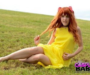 Amarna Miller cosplays in the field while enjoying his hard pecker