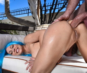 Sizzling MILF Cherie Deville getting her ass fucked by a swollen red cock