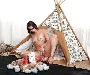 Brunette abbe Kelsi Monroe posing for sexy solo girls poses