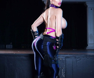 Pornstar Aletta The drink flood window-dressing heavy tits and correct pain in the neck in cosplay duds