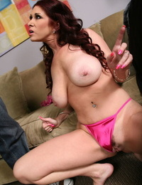 Redhead mature Tiffany Mynx shows the brush big juggs increased by gets rammed by a BBC