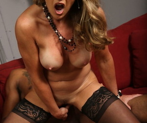 Middle-aged American female Shayla Laveaux has her first big black cock