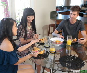 Naughty mom Marica Hase and stepdaughter Cindy Starfall share young boyfriend