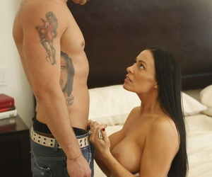 Ebon haired cougar Vanilla DeVille seduces with the addition of fucks a younger stud