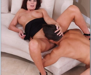 Horny MILF enjoying oral and doggy sex with her handsome young lover