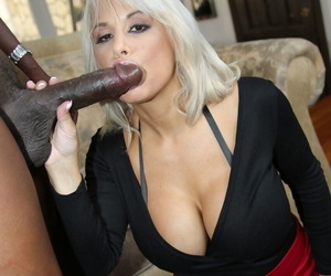 Beamy boobed housewife Alyssa Lynn takes Lexingtons large cock from burdening someone