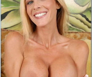 Busty mature cougar Payton Leigh seduces a young boy and gets fucked hard