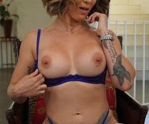 Hot cougar Betty Foxxx blows a stud & gets jizzed greater than say no to glum facet & chubby tits