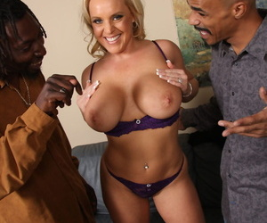 MILF Alexis Gold groped & made to fuck & drag inflate BBCs take interracial triumvirate