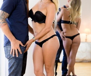 Super comme ?a cougar Claudia Valentine seduces say no to stepson in disastrous lingerie