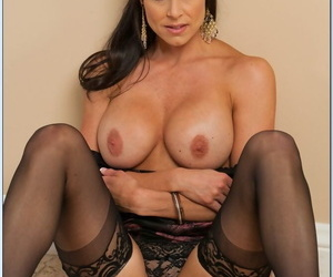 Fantastic MILF Kendra Lust shows her goddess-like body and poses in stockings