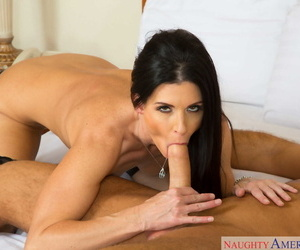 Cougar in sexy lingerie India Summer gives a young manager a great sex lesson