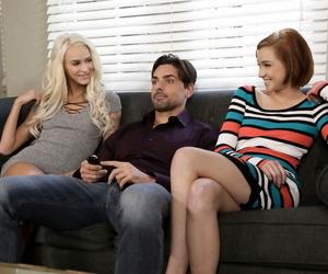 Young bi girls Emma Hix & Cadey Mercury take a crack at a 3some concerning their enjoyment from buddy