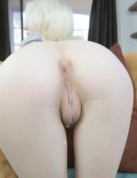 18 year old blonde Piper Perri gets internal cumshot from big dick