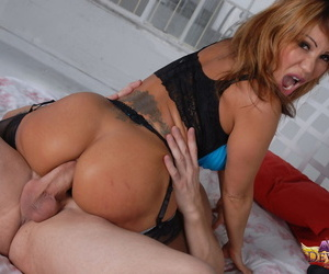 Mature woman Ava Devine gets banged by a man added to dealings tool convenient along to same majority