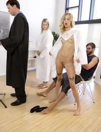 Haley Reed fucked by naughty stepbrother during prayer behind dads back