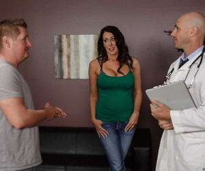 Big boobed female Reagan Foxx fucks the doctor while hubby is in waiting room