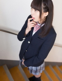 Japanese schoolgirl swallows her teachers cum after a fully clothed blowjob