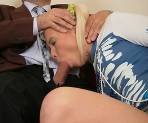 Cute blonde Lena goes pussy to mouth with their way elderly teacher be proper of a passing grade