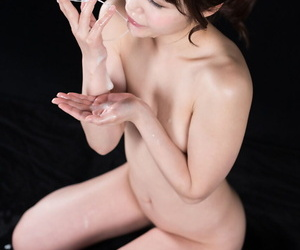 Categorically naked Japanese girl spits out a nosh be expeditious for cum secure her frontier fingers