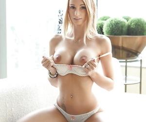 Big titted hardcore slut Erica Fontes gets load of cum on cunt after anal bang