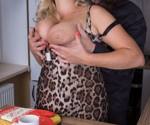 Older BBW Lariona gets fucked by her younger lover with her hubby away